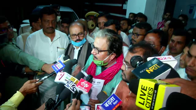 leader manoj jha's byte in patna, bihar, on november 10, 2020. he said that there have been pressure by the chief minister's office on several... - byte stock videos & royalty-free footage