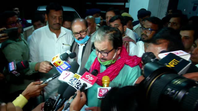 leader manoj jha's byte speaking about the misconduct in state assembly elections in bihar. he explained their party candidate in hilsa was asked to... - byte stock videos & royalty-free footage