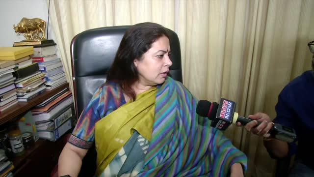 """leader meenakshi lekhi's byte in relation to the recent questions raised by the parliamentary panel against social platform twitter. she said, """"i... - byte stock videos & royalty-free footage"""