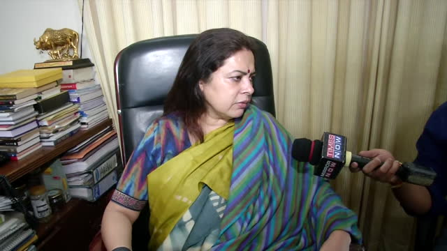 """leader meenakshi lekhi's byte related to covid-19 situation in delhi. she said, """"central government force has to intervene and whether it was the... - byte stock videos & royalty-free footage"""