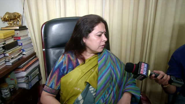 """leader meenakshi lekhi's byte while talking about the recent twitter case. she said, """"people of this country and government of india is concerned. we... - byte stock videos & royalty-free footage"""