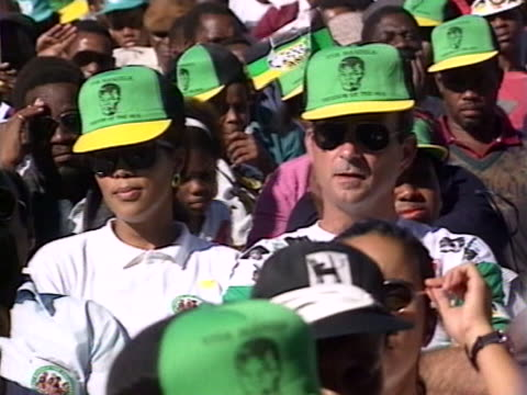 anc leader nelson mandela makes a plea to white south africans to stay in the country - nelson mandela stock videos and b-roll footage