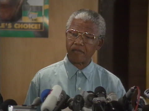 ANC leader Nelson Mandela talks about the importance of the first free elections in South Africa's history