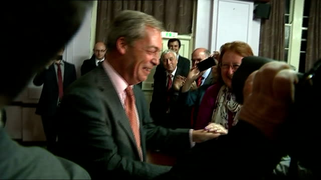 ukip leader nigel farage to contest south thanet seat in 2015 general election england kent ramsgate throughout ** nigel farage mep announced to... - ramsgate stock videos & royalty-free footage