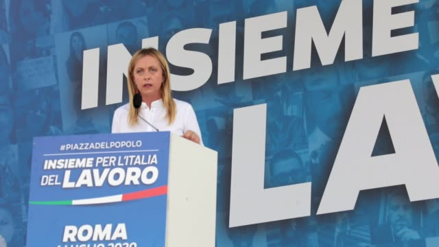 ITA: Center-Right Wing Parties Protest In Rome