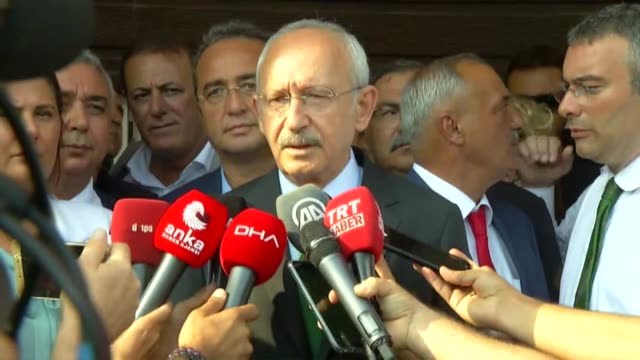 leader of the republican people's party kemal kilicdaroglu speaks to the press in aydin on september 06 2019 after the istanbul head of turkey's main... - aydın province stock videos and b-roll footage