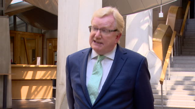 leader of the scottish conservatives jackson carlaw saying the dominic cummings issue is distracting attention from the main issue of dealing with... - politics and government stock videos & royalty-free footage