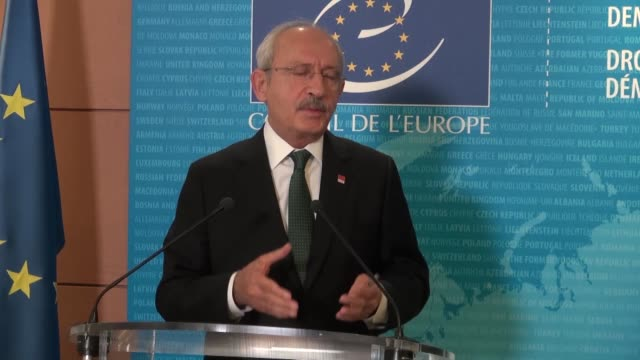 Leader of Turkey's main opposition Republican People's Party Kemal Kilicdaroglu meets with Council of Europe SecretaryGeneral Thorbjorn Jagland in...