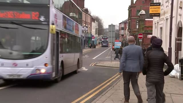leader paul nuttall confirms he will stand in stoke by-election; ext street empty shop or office building people along pavement int paul nuttall mep... - itv weekend late news点の映像素材/bロール