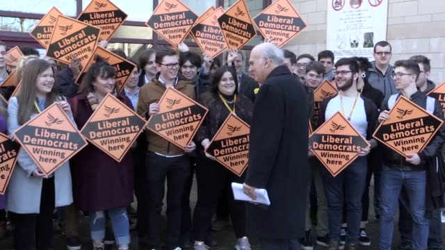 leader sir vince cable arrives at york barbican for the liberal democrat spring conference. cable will say the liberal democrats are on a mission to... - vince cable stock videos & royalty-free footage