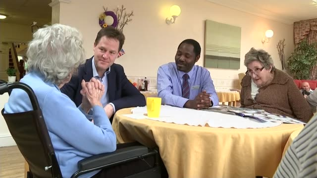 leaders condemn persecution of christians in easter messages 442015 sheffield fulwood lodge care home int nick clegg chatting to elderly woman at... - lady louise windsor stock videos and b-roll footage