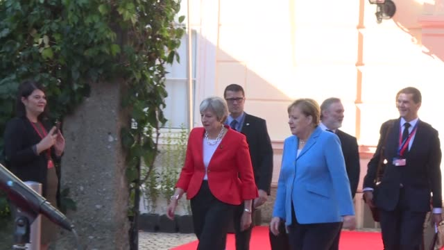 leaders meet in salzburg to prepare for the final stretch of brexit negotiations after public clashes with britain over who should give ground but... - shift key stock videos & royalty-free footage