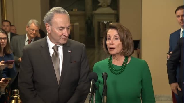 Leaders Nancy Pelosi and Chuck Schumer approached the media Pelosi to say that House and Senate Democrats and Republicans had worked together on an...