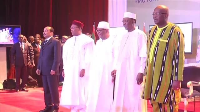leaders of five sahel countries met with france's defence minister on tuesday to discuss funding for an unprecedented joint force to combat jihadism... - g force stock videos & royalty-free footage