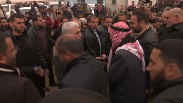 leaders of hamas greeting people at palestinian protests in gaza - israeli military stock videos & royalty-free footage