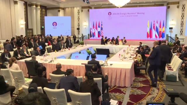 leaders of the 10 member association of southeast asian nations meet in bangkok for a summit - association of southeast asian nations stock videos & royalty-free footage