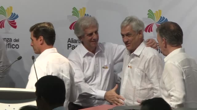 leaders of the latin american trade bloc pacific alliance sign an agreement to look for a greater integration with the four south american countries... - mercosur stock videos & royalty-free footage