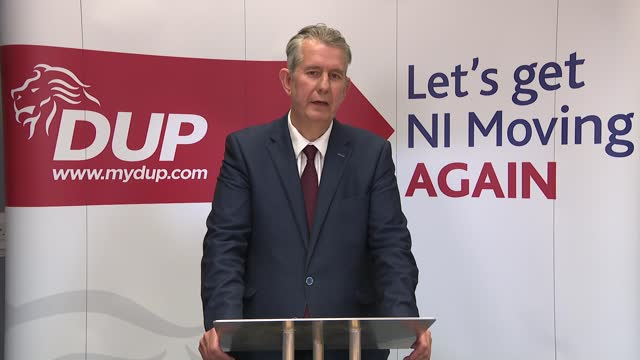 leadership announcement; northern ireland: belfast int edwin poots mla speech sot - first of all, i want to say thank you almighty god. - i want to... - resilience stock videos & royalty-free footage