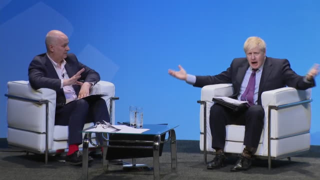 leadership contenders boris johnson mp and jeremy hunt mp attend conservative party hustings in birmingham for the first time in his political career... - 政治家 ジェレミー ハント点の映像素材/bロール