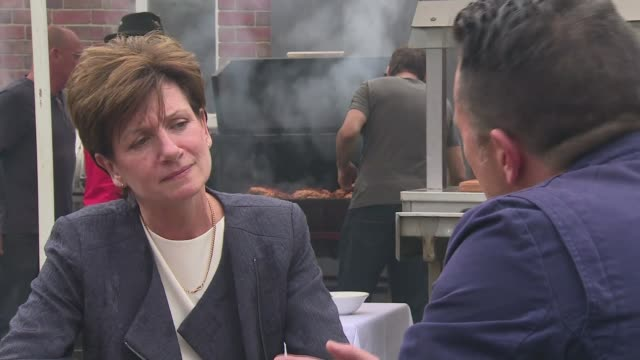 diane james declines to take part in hustings with rivals gloucestershire gloucester ext diane james interview sot on not taking part in hustings - diane james politik stock-videos und b-roll-filmmaterial