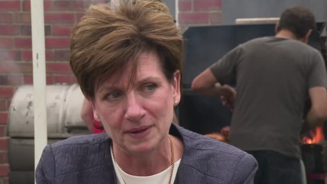 diane james declines to take part in hustings with rivals gloucestershire gloucester ext diane james interview sot on nigel farage's future role in... - diane james politik stock-videos und b-roll-filmmaterial