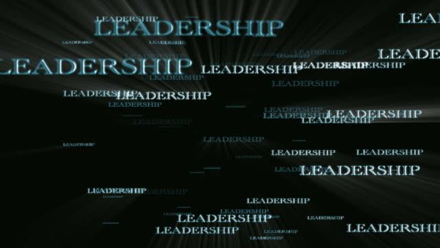 リーダーシップテキストフライスルー - 褒美点の映像素材/bロール