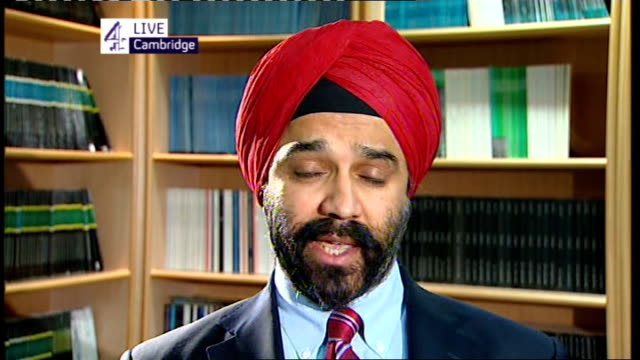 Leading cancer and Alzheimer charities argue over NHS funding budgets ENGLAND London GIR INT Harpal Kumar LIVE 2WAY interview from Cambridge SOT On...