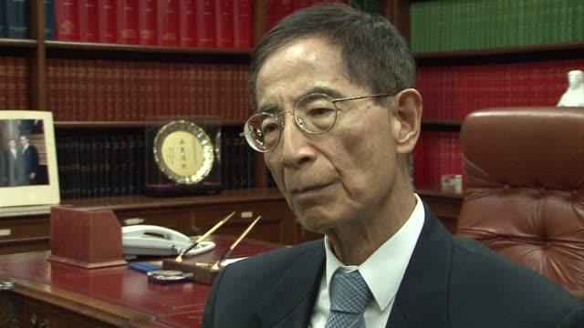 Leading Hong Kong lawyer pro democracy activist and former legislator Martin Lee reacts to former British prime minister Margaret Thatchers death...