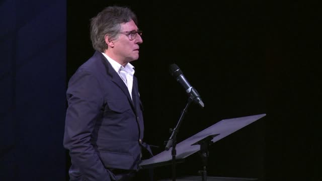 leading irish playwrights actors musicians and comedians including roddy doyle gabriel byrne and frank mcguinness have peformed a 'noble call for... - roddy doyle stock videos & royalty-free footage