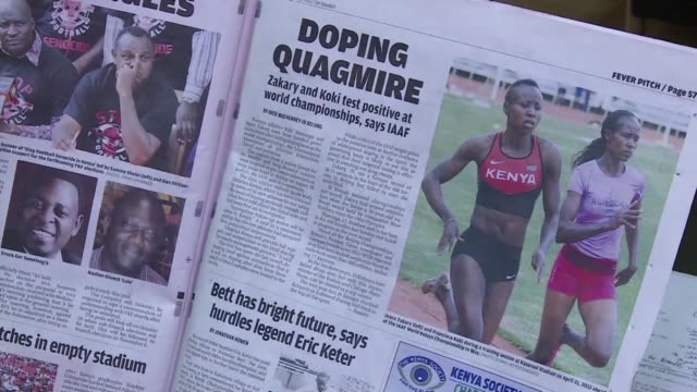vídeos de stock, filmes e b-roll de a leading kenyan anti doping investigator has accused the east african nation athletics body of not doing enough to tackle drug cheats calling the... - abuso de substâncias