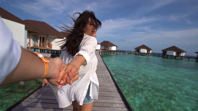 leading me to maldives - personal perspective stock videos & royalty-free footage