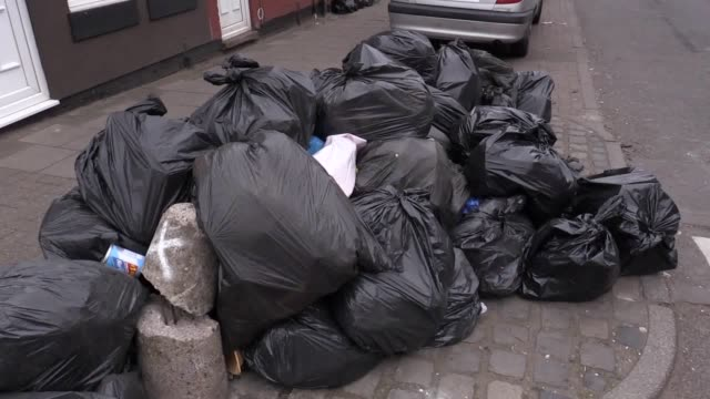 a leading pest control expert has warned of public health consequences as bin bags pile up in innercity birmingham where industrial action by... - birmingham england stock videos & royalty-free footage