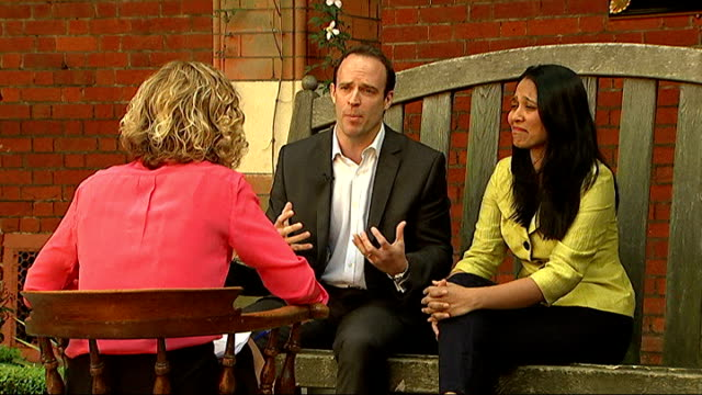 leading tory says top public schools should give a quarter of places to children from poorer families dominic raab mp and rushanara ali mp interview... - channel 4 news stock videos & royalty-free footage