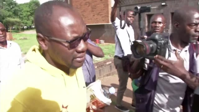 leading zimbabwean activist pastor evan mawarire arrives at the harare magistrate's court - pastor stock videos & royalty-free footage