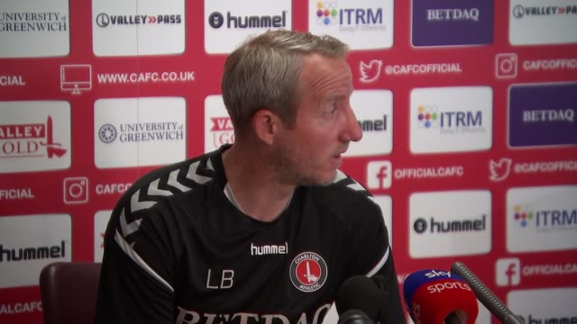 Preview of Charlton Athletic v Sunderland ENGLAND London Charlton INT Lee Bowyer press conference SOT