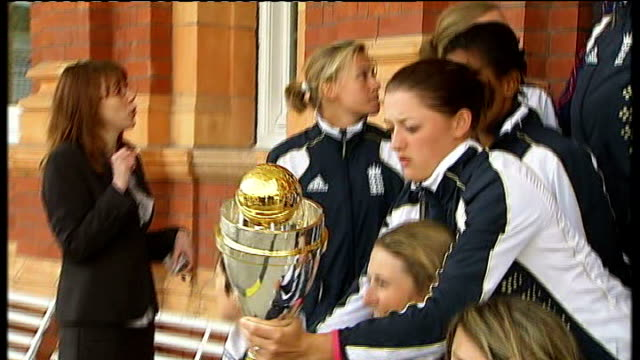 south africa to host 2009 season lord's cricket ground england women's cricket team photoshoot with women's world cup - cricket team stock videos and b-roll footage