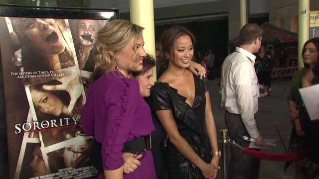 Leah Pipes Carrie Fisher Jamie Chung at the 'Sorority Row' Premiere at Hollywood CA
