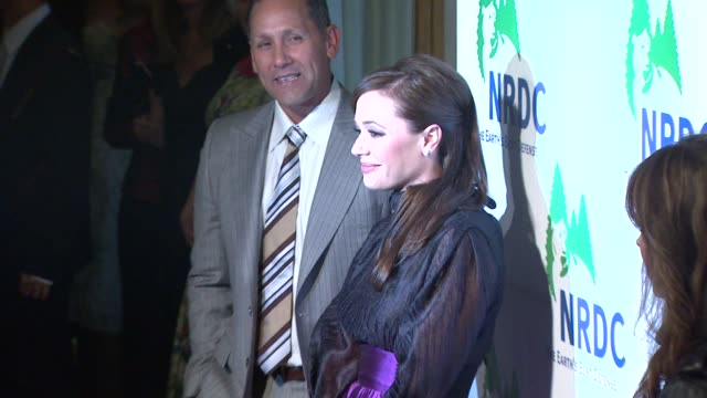 leah remini at the national resources defense council's 20th anniversary celebration at beverly hills ca - national resources defense council stock videos & royalty-free footage