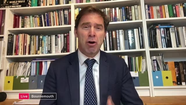 leaked email reveals huge proposed cuts to uk foreign aid budget; england: london: int tobias ellwood mp live 2-way interview from bournemouth and... - e mail stock videos & royalty-free footage