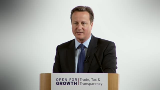 governments begin to investigate LIB ENGLAND London Lancaster House INT David Cameron MP speech on tax avoidance SOT I'm going to push for...