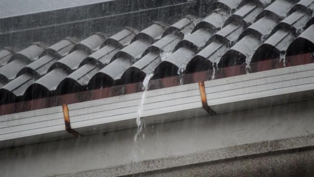 leaking gutter - leaking stock videos & royalty-free footage