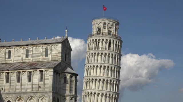 leaning tower of pisa and cathedral - pisa cathedral stock videos & royalty-free footage