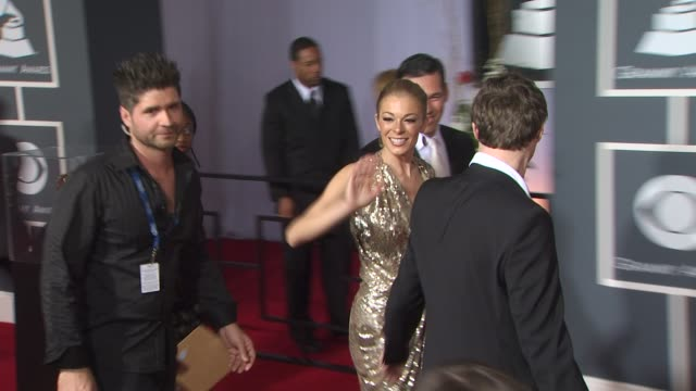 leann rimes at the 53rd grammy awards arrivals part 2 at los angeles ca - amrapali stock videos & royalty-free footage