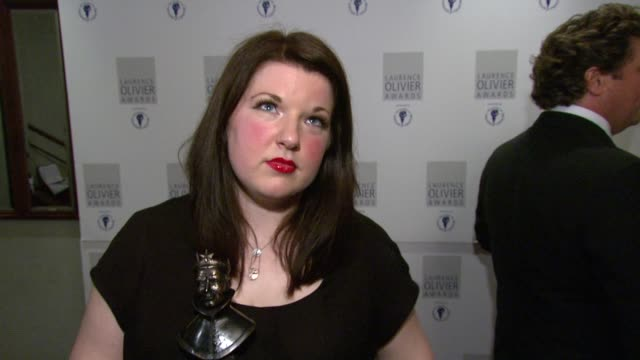 Leanne Jones on how gettingt the role in Hairspray was a dream come true at the The Laurence Olivier Awards at the Grosvenor House in London on March...