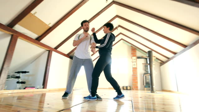 learn to defend yourself - self defense stock videos and b-roll footage
