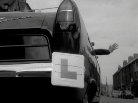 a learner driver pulls out onto a residential road - learning to drive stock videos & royalty-free footage