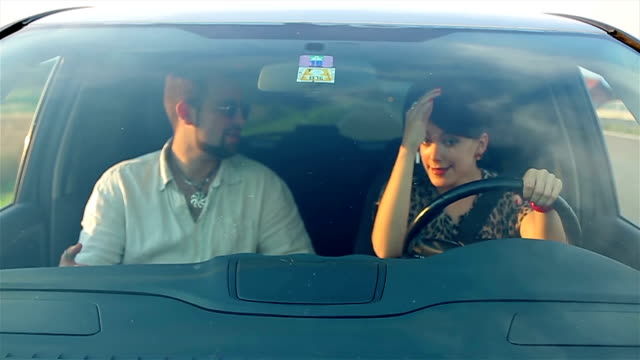 learning driving a car whit my boyfriend - learning to drive stock videos & royalty-free footage