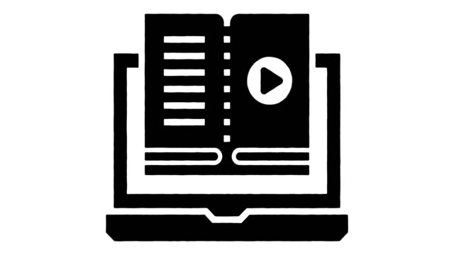 stockvideo's en b-roll-footage met learning technology automation line drawing & ink splatter animation met alpha - interactief
