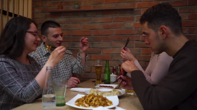 learning to eat with chopsticks - chinese culture stock videos & royalty-free footage