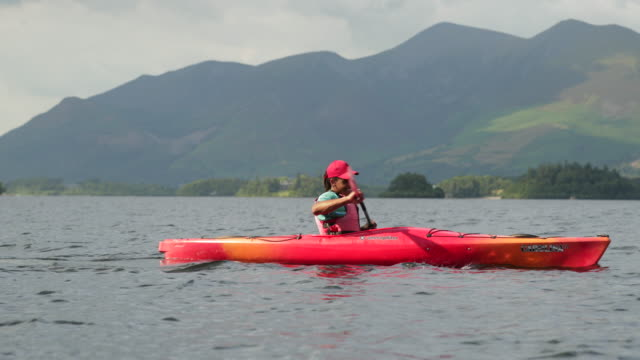 learning to kayak - using a paddle stock videos & royalty-free footage